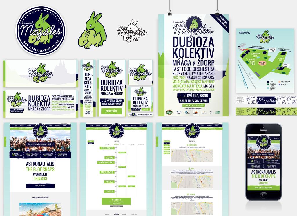 studentsky majales visual poster banner webdesign
